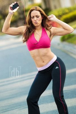 Outtake from a shoot with WBFF Bikini Pro Chady Dunmore by David Bickley Photography