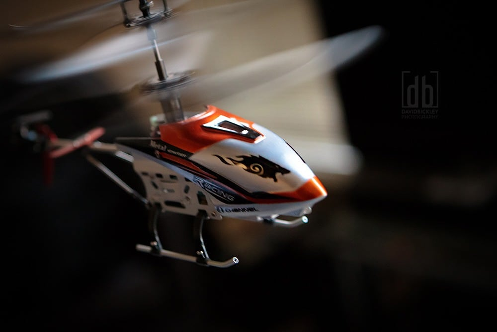 Drift King 4 channel Remote Controlled Helicopter by David Bickley Photography