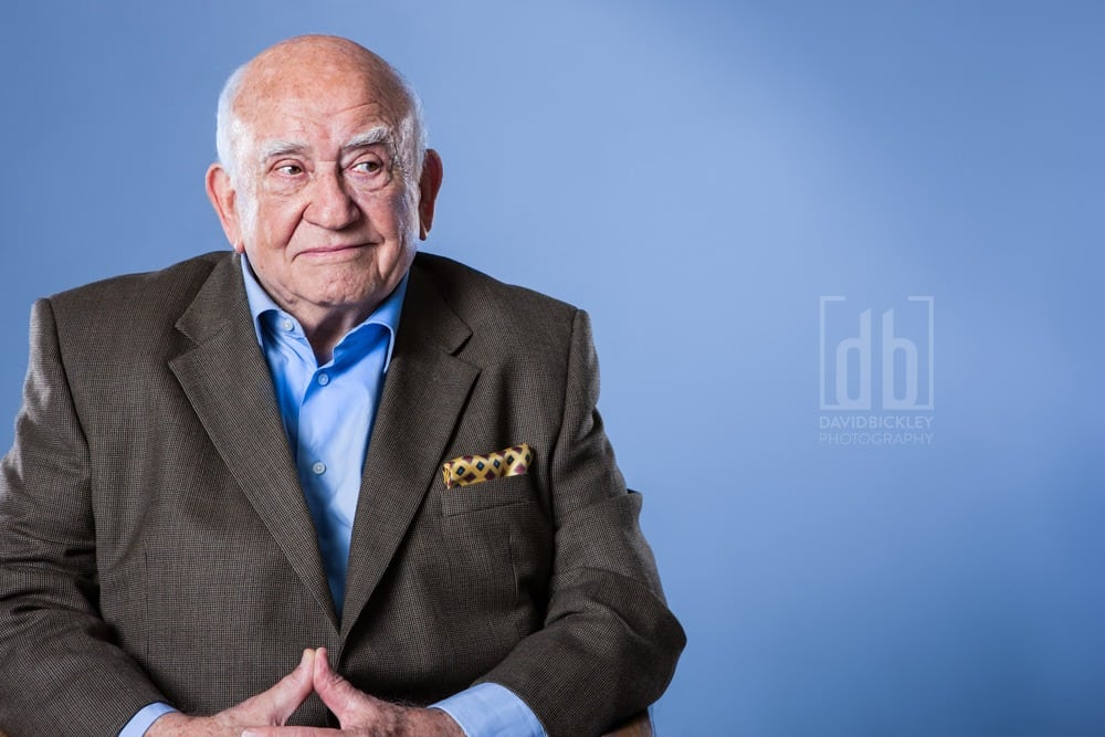 Actor Ed Asner by David Bickley Photography