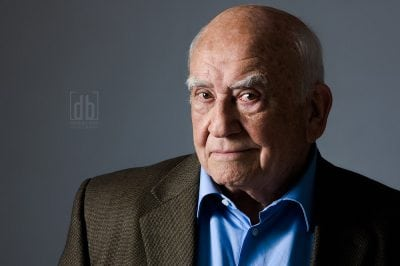 Unpublished image of Ed Asner, photographed for KC Magazine by David Bickley Photography