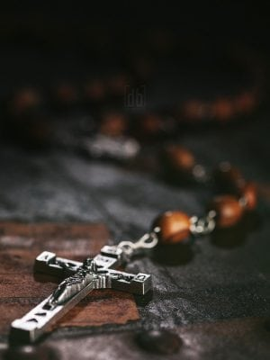 Olive Wood Rosary from Bethlehem by David Bickley Photography