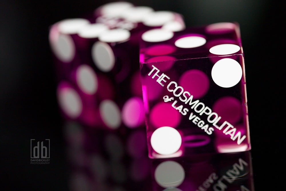 Casino Dice From the Cosmopoitan by David Bickley Photography