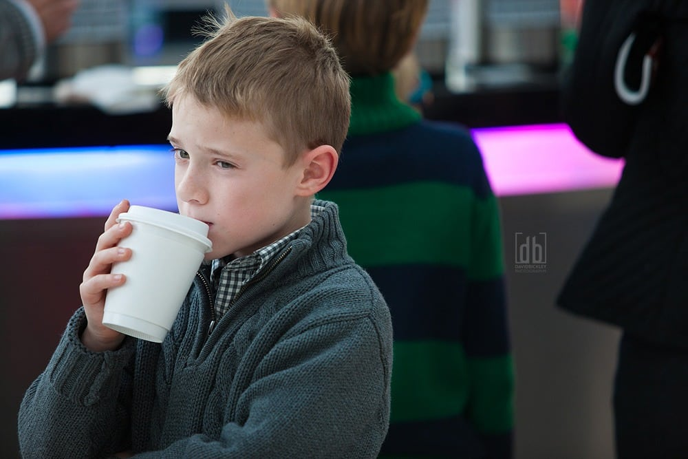 Contemplative coffee kid by David Bickley Photography