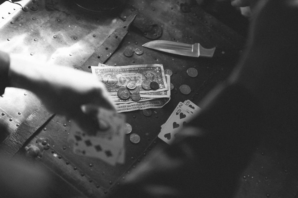Cards and knives