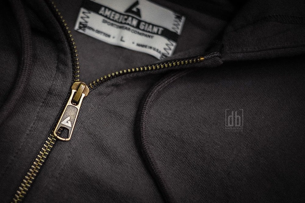 American Giant full-zip heavyweight hooide by David Bickley Photography
